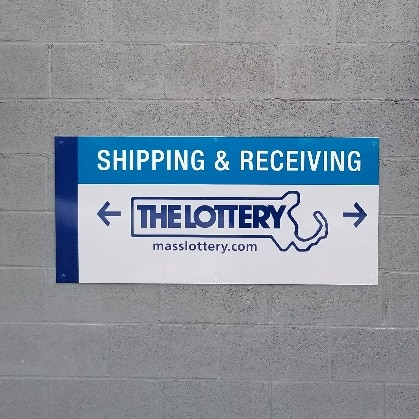 First Highland Shipping and Receiving Sign