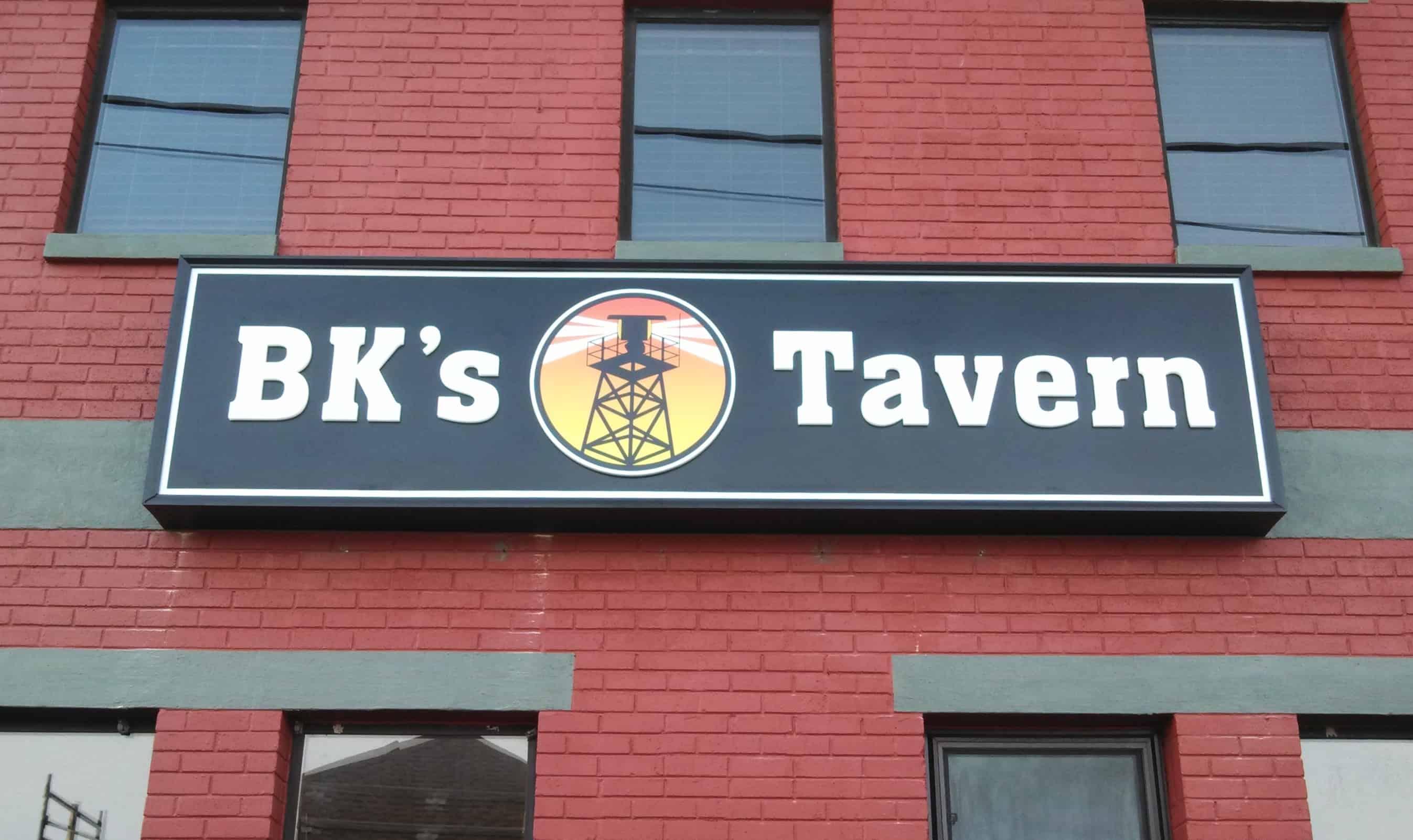 BK's Tavern Building Sign 1