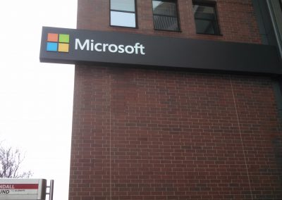 Microsoft Building Sign