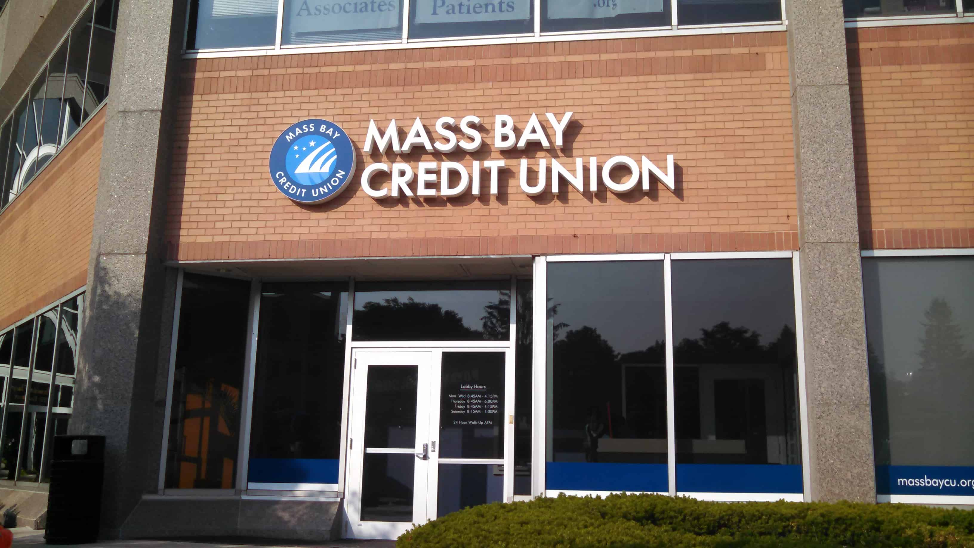 Mass Bay CU Building Sign