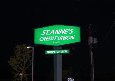 St. Anne's CU Pylon at Night