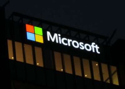 Microsoft at Night