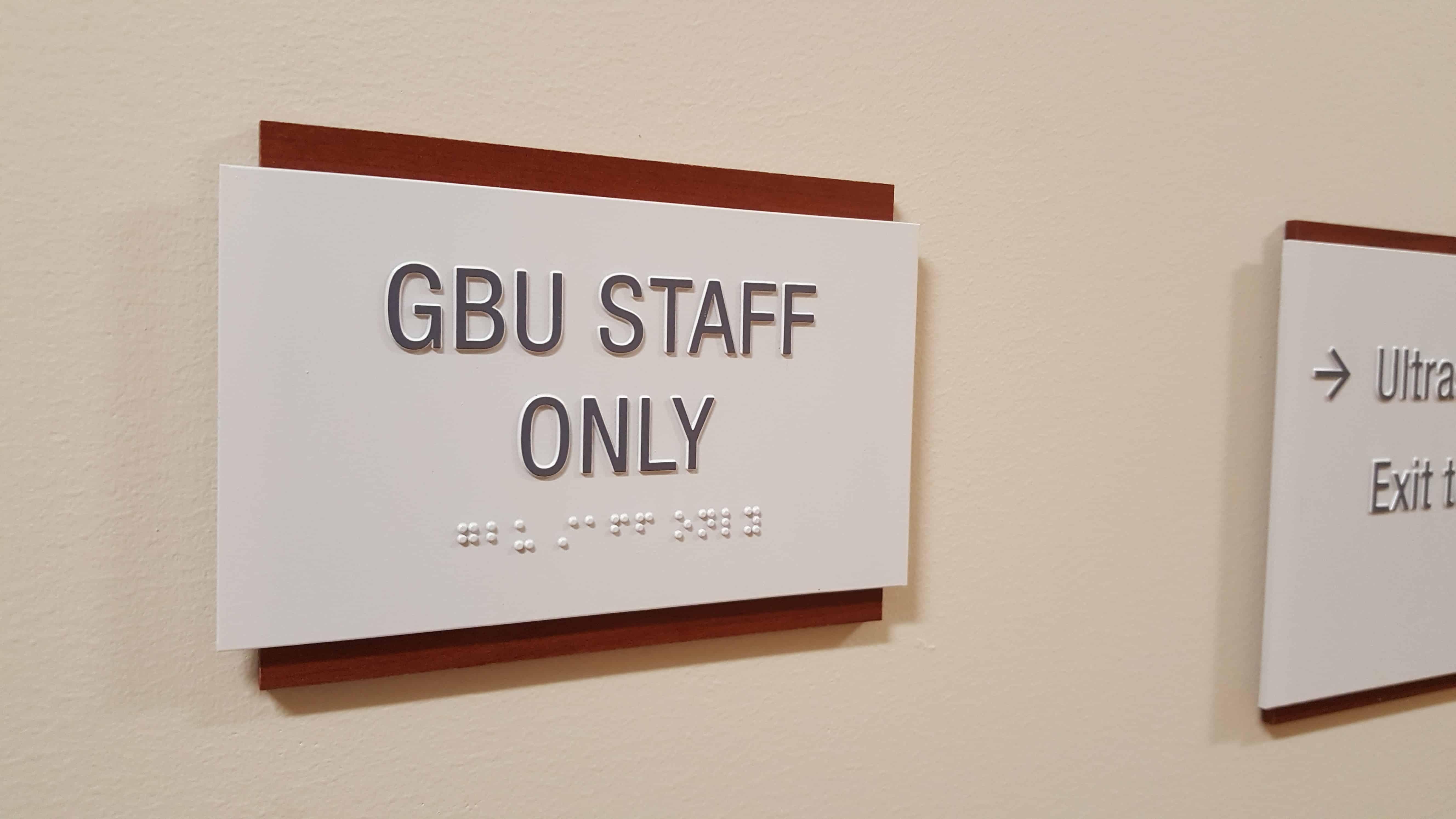GBU ID Sign