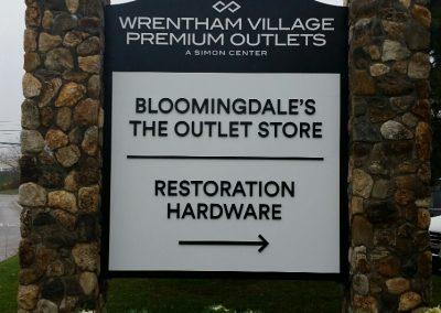 Wrentham Entrance Sign