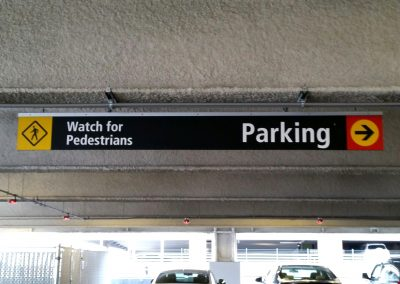 Assembly Row Parking Garage Sign