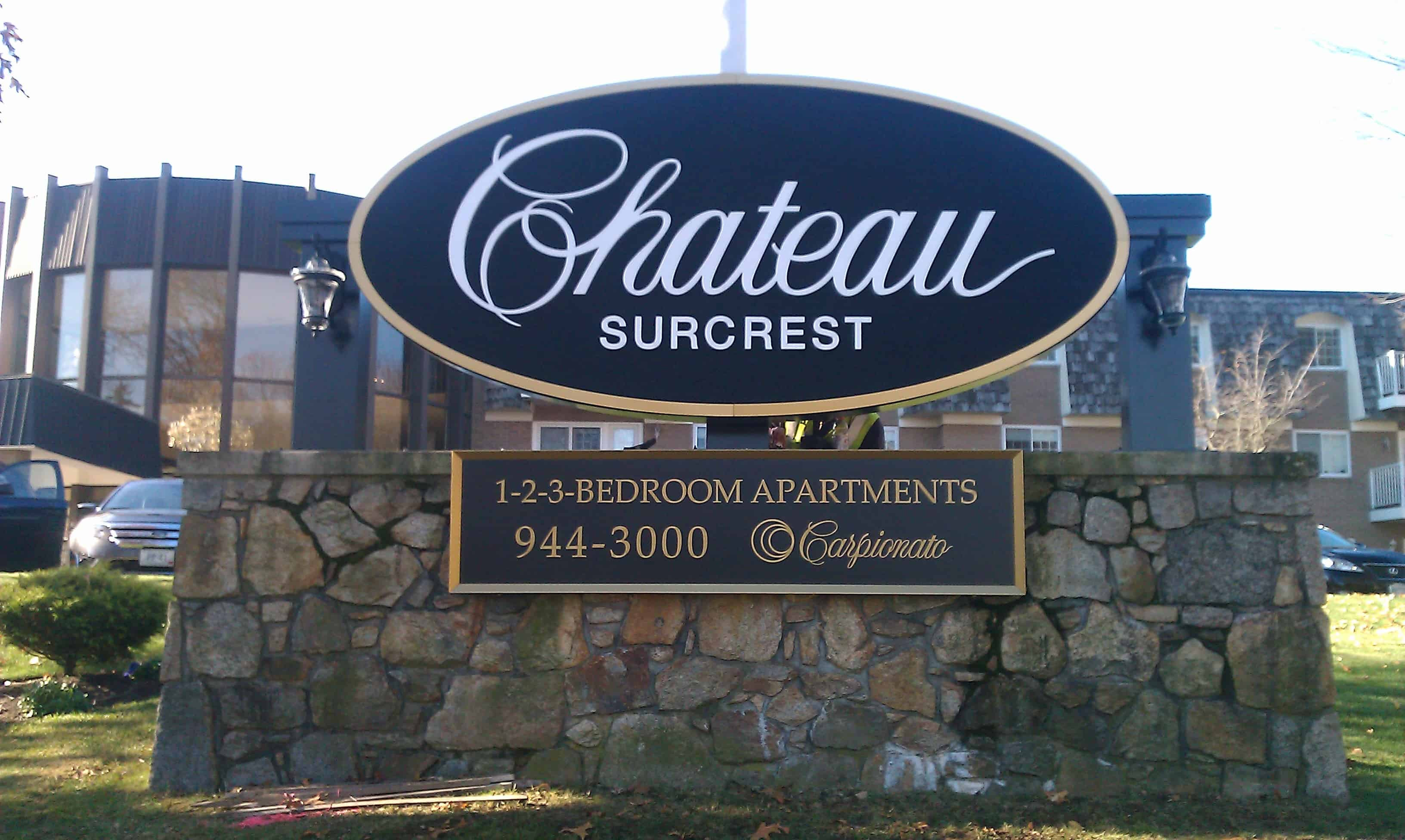 Chateau SurCrest Monument Sign