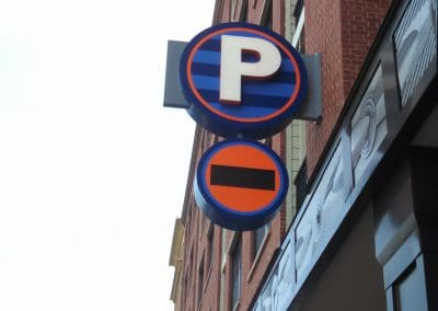 Assembly Row Parking Sign