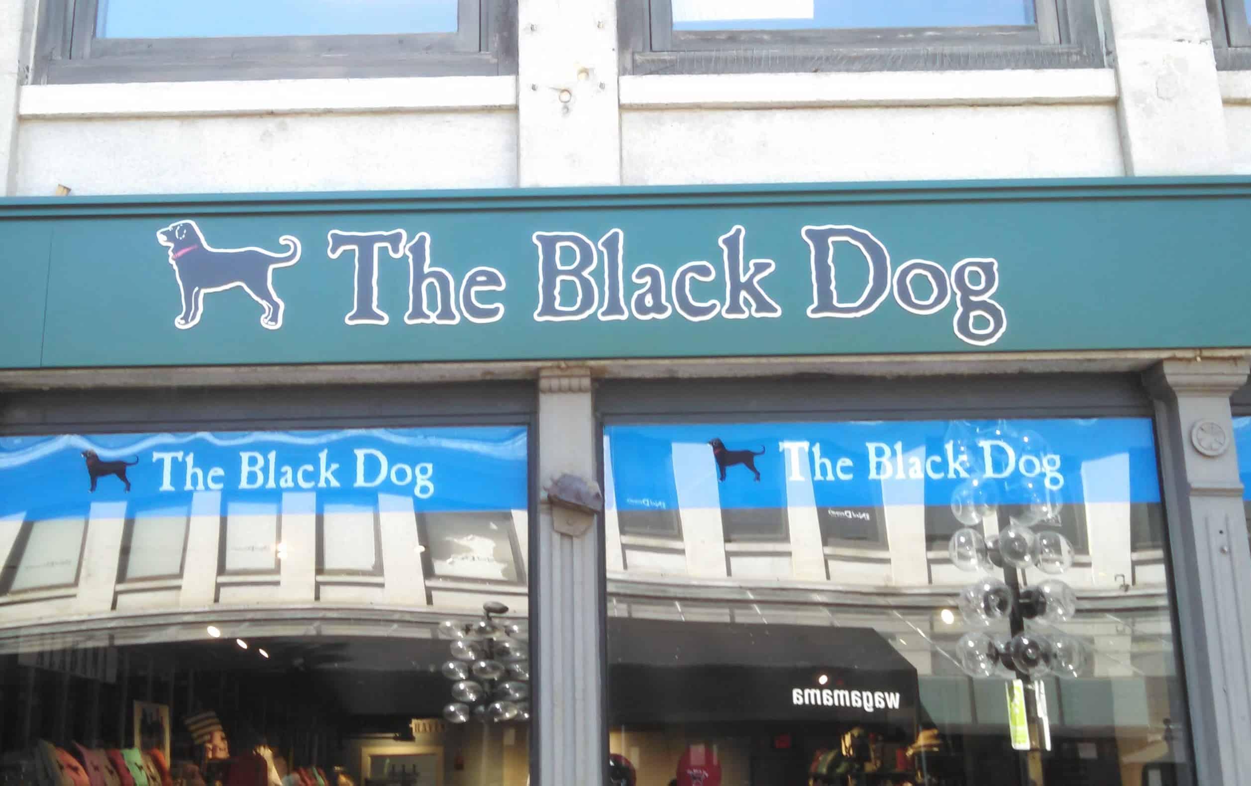 Black Dog Building Sign