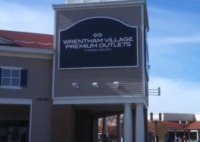 Wrentham Building Sign