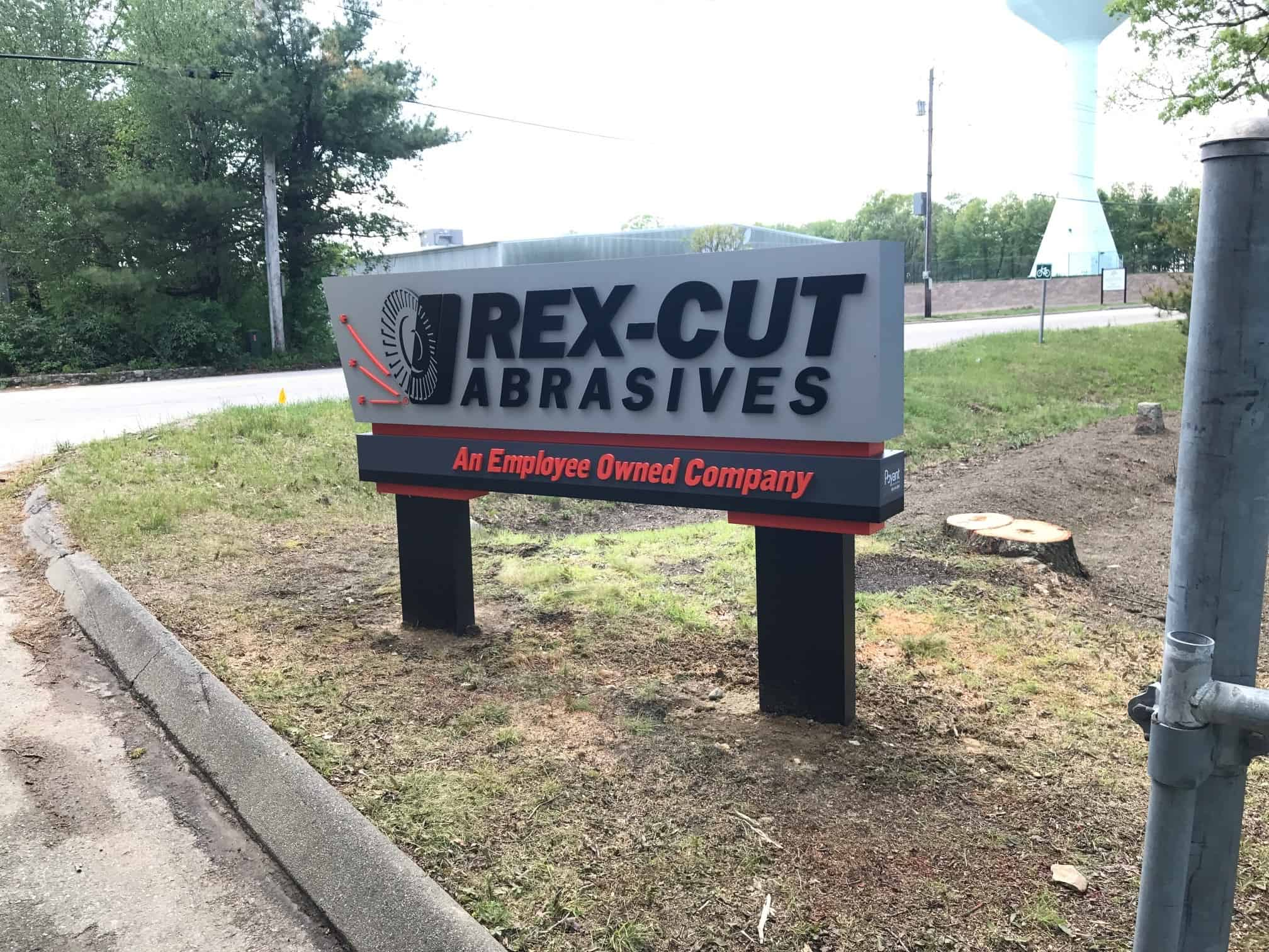 Rex Cut Abrasives Monument Sign