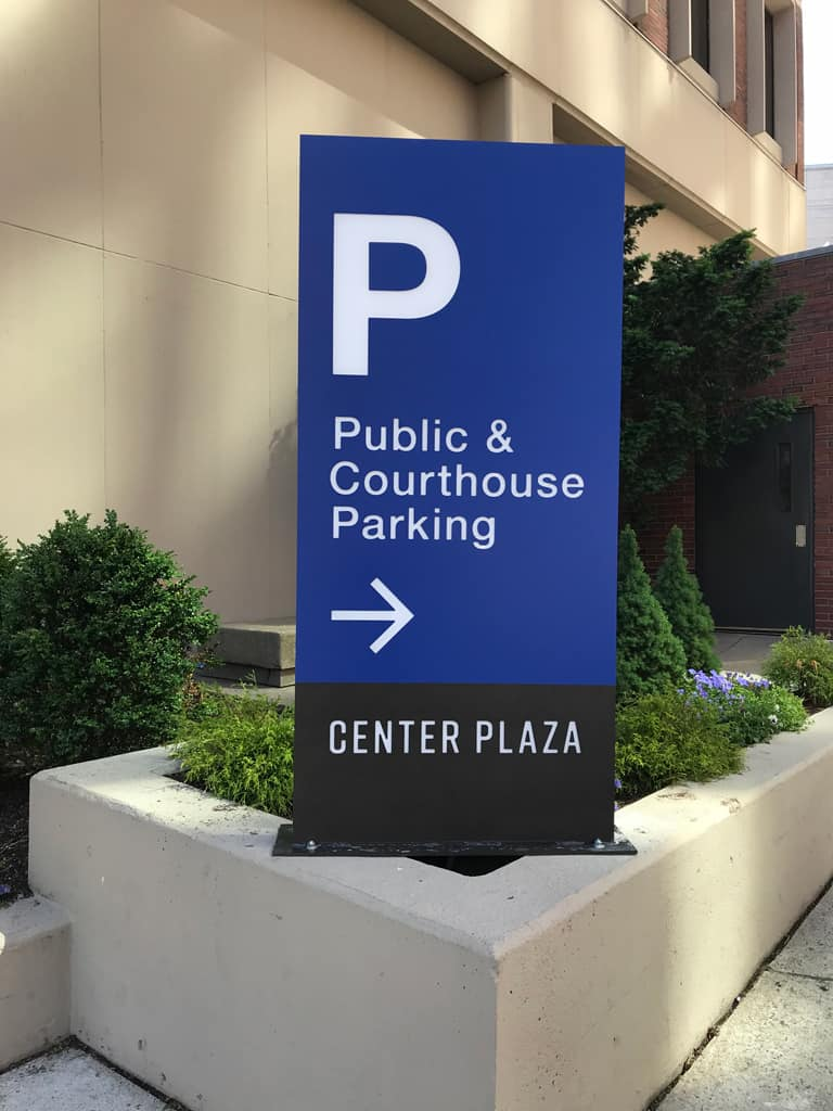 Center Plaza Parking Sign