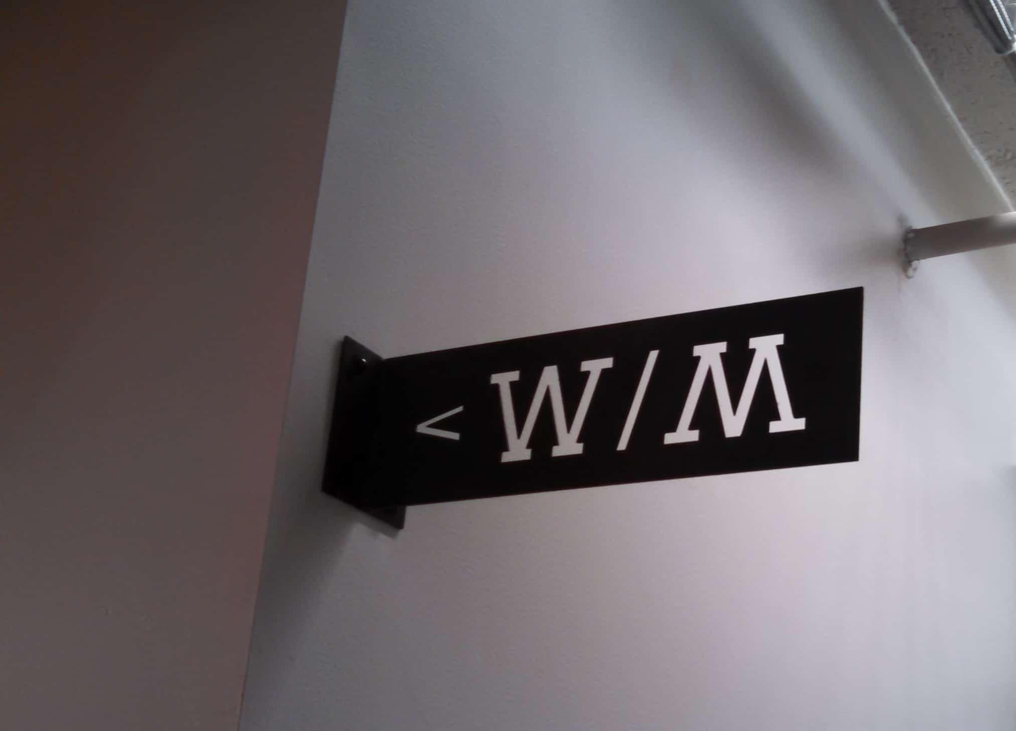 Converse Restroom Sign