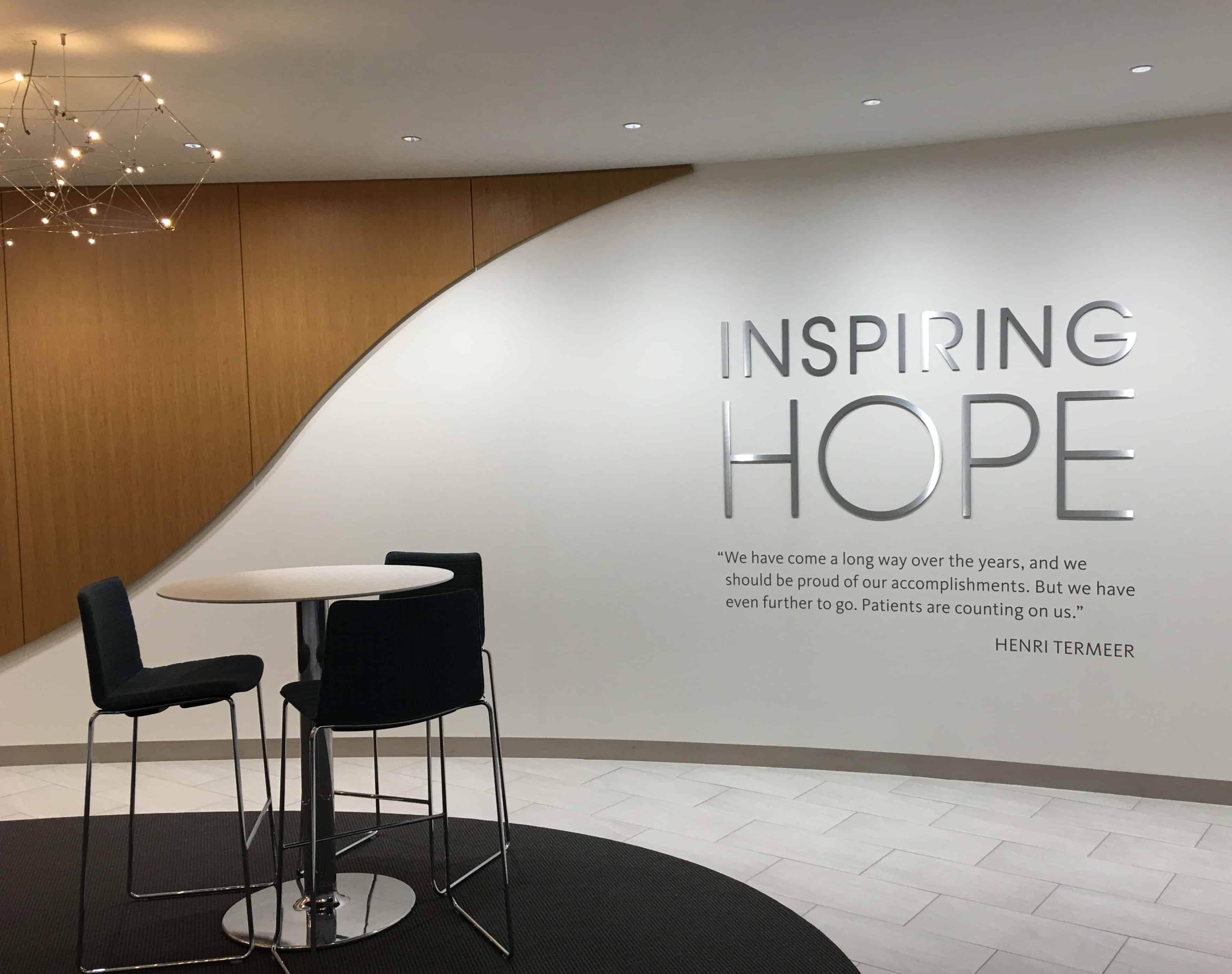 Sanofi Inspiring Hope Wall sign