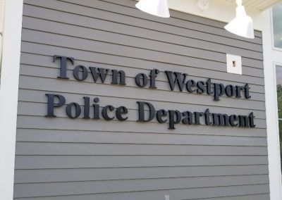 Westport Police Channel Letters