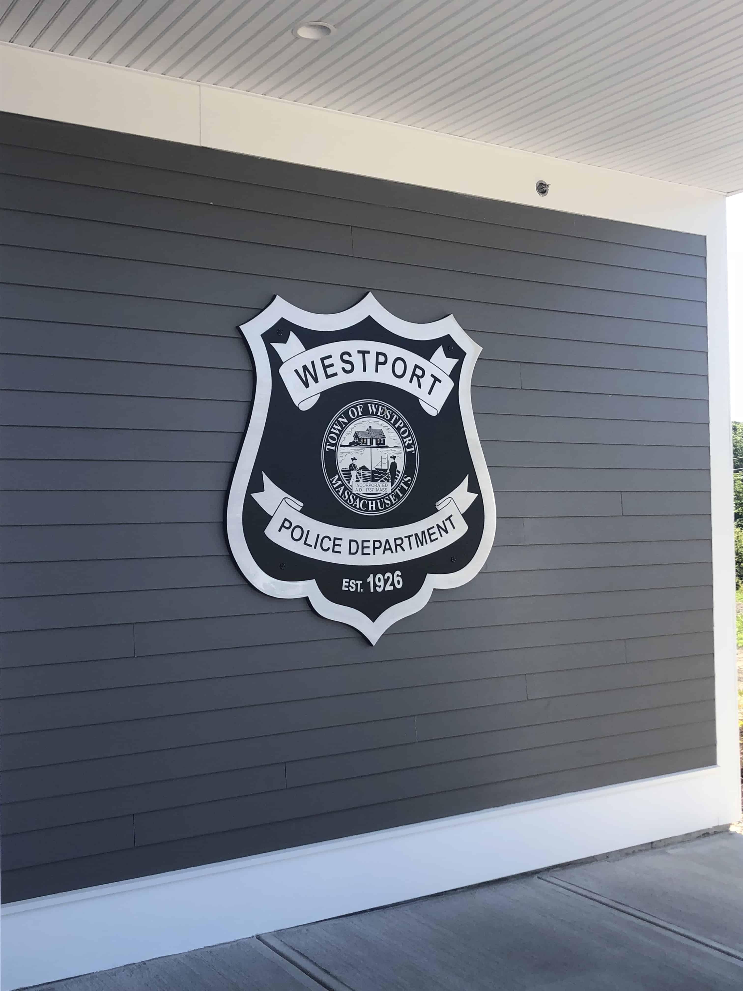 Westport Police Building Plaque