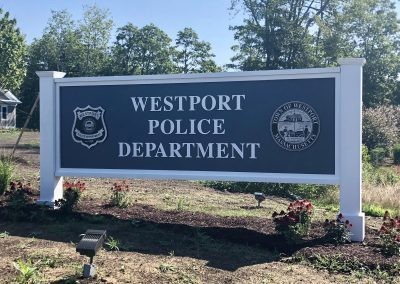 Westport Police Monument Sign