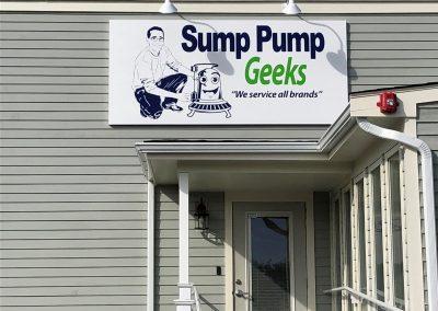 Sump Pump Geeks Building Sign 1