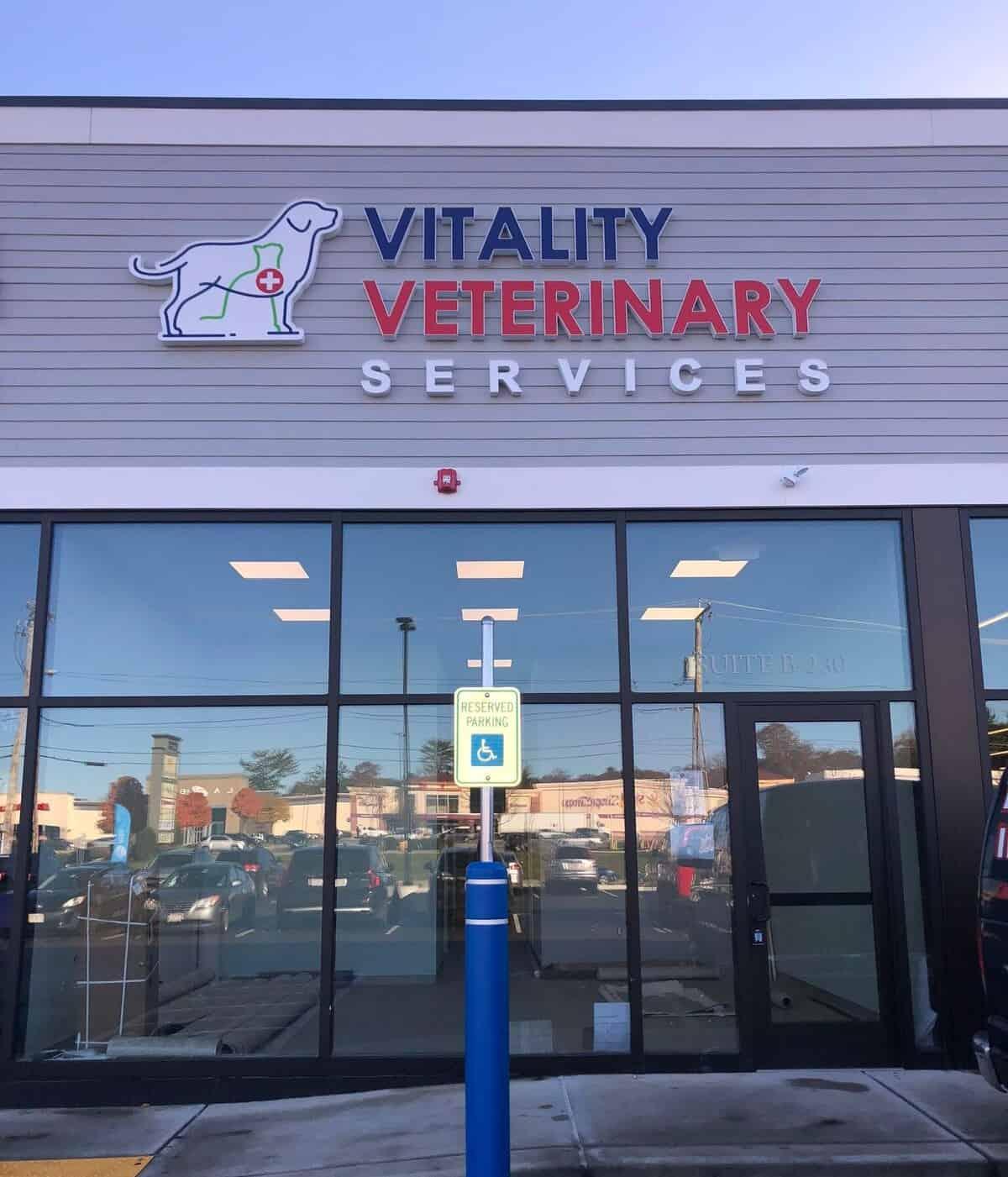 vitality vet channel letters