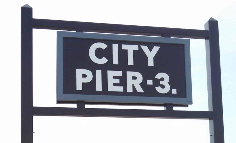 Pylon Sign for City Pier 3